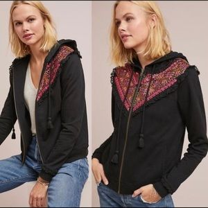 Anthropologie Akemi + Kin Black Terry Hoodie